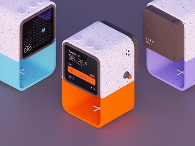 alarmclock pattern clean product music design ux ui