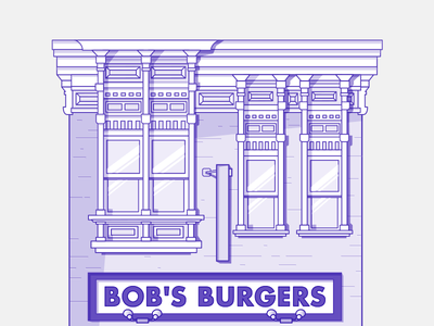 bob's burgers vector blue detail flat illustration affinity design vector bobsburgers series