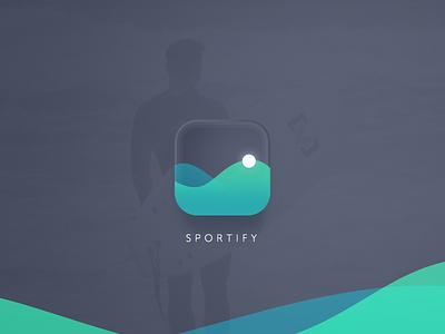 Day 05 - App Icon fitness dailyui ux ui wave sport icon app