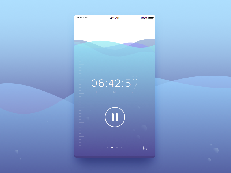 Day 14 - Countdown Timer ux ui dailyui stop timer countdown