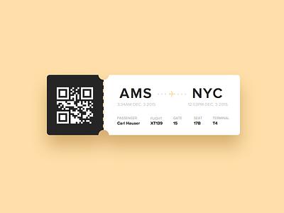Day 24 - Boarding Pass design qr flight pass boarding ui ux dailyui