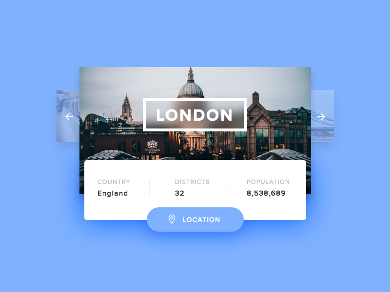 Day 45 - Info Card clean england london card info ux ui dailyui