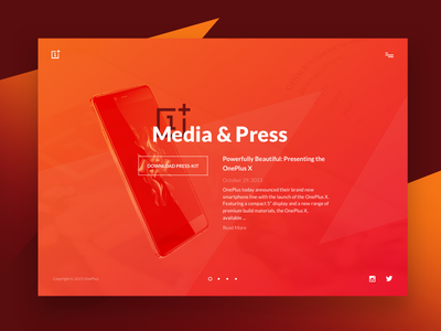 Day 51 - Press Page page webdesign smartphone oneplus press media ui ux dailui