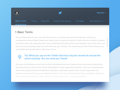 Day 89 - Terms of Service service terms twitter ux ui dailyui