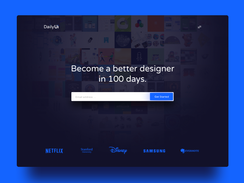Day 100 - Redesign Dailyui landingpage redesign ux ui dailyui