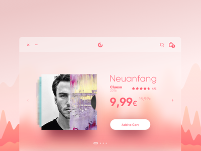 music store music shop ui ux minimal design