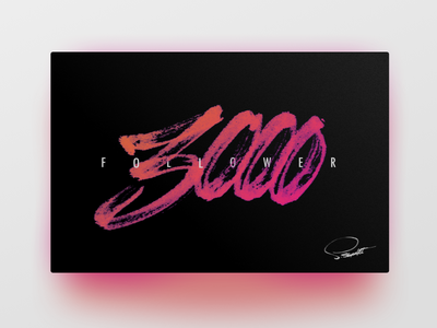 3000 thank you card ux ui hand lettering
