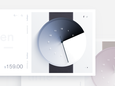 Hidden Time gradient product ux ui watch