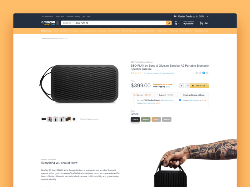 Amazon redesign small