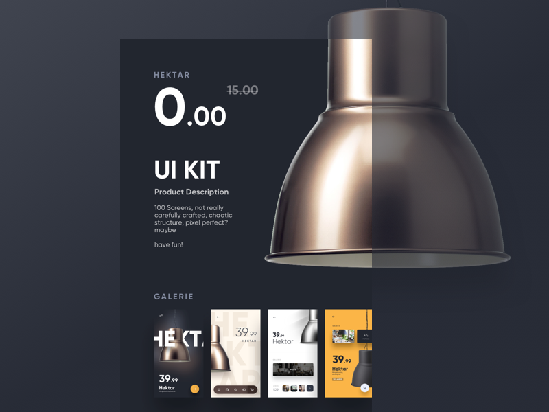 Free Hektar UI Kit iphone free kit ux ui ikea