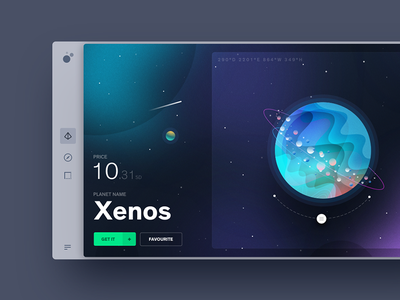 Planets space illustration ux ui gradient shop planet