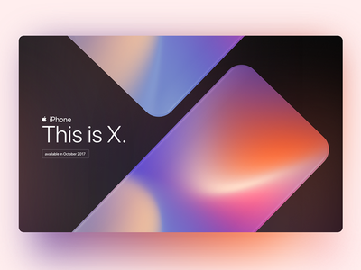 iPhoneX iphone gradient ux ui