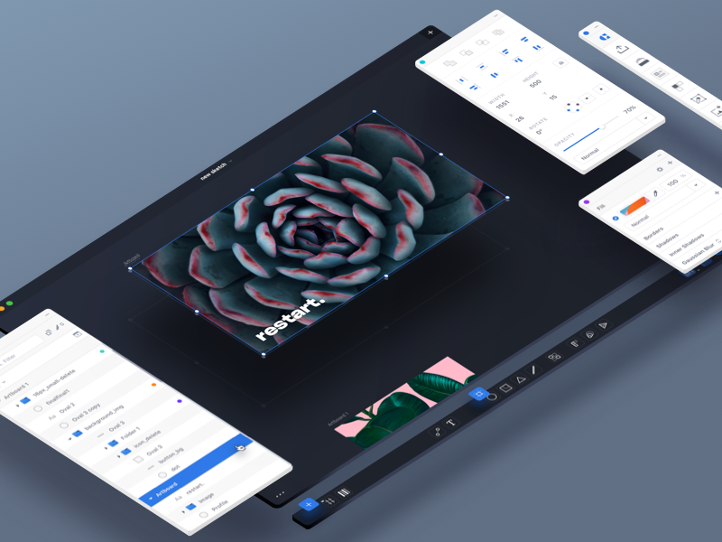 Modular Sketch interface design ux ui sketch