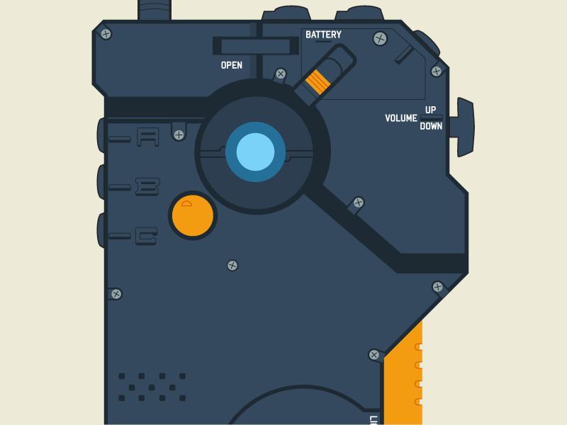 iDroid Detail illustration design flat metal gear solid mgs idroid