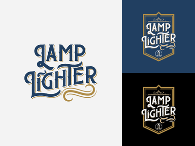 Lamp Light Branding Concept victorian logo style cannabis brand vector typography illustration logo design branding
