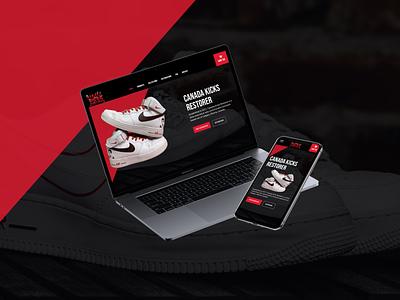 Kicks Restorer Website web design ux ui design
