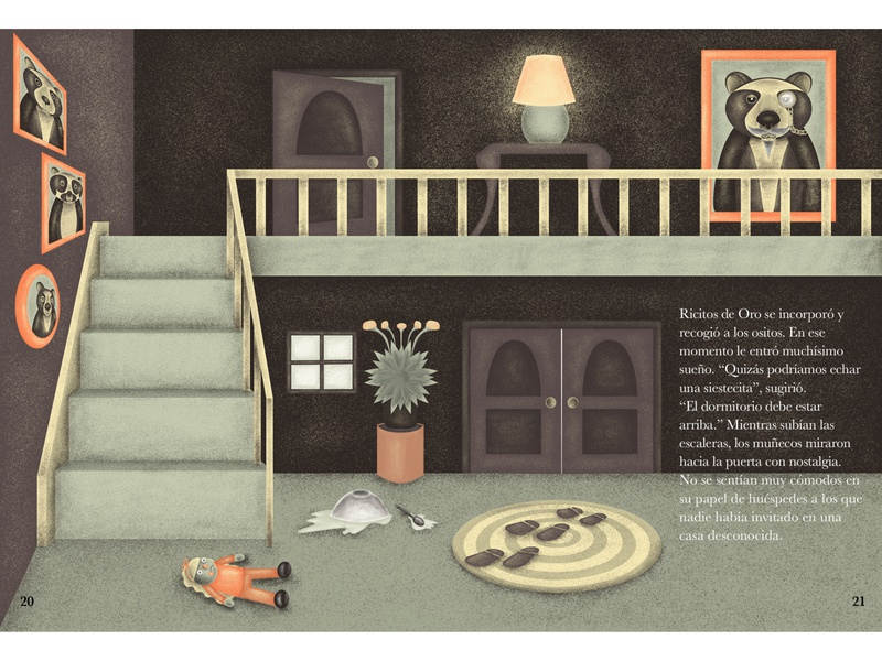 The Three Bears House - Double page illustration