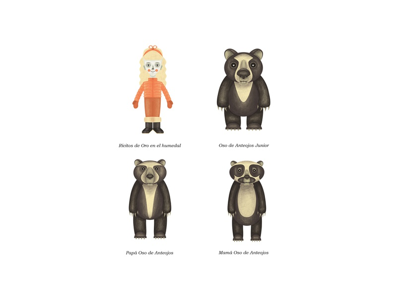 """Character design for """"Goldilocks and The Three Bears"""""""