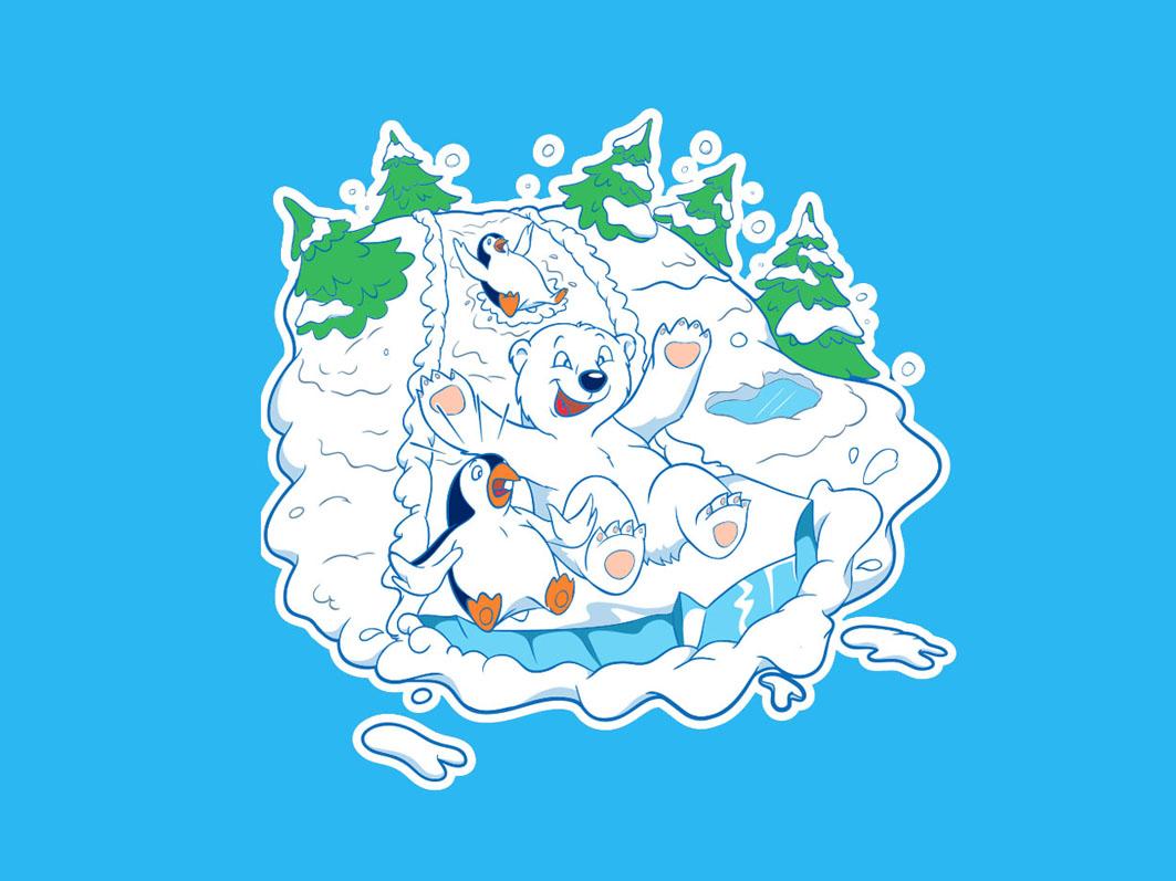 Polar Teddy mascot design clothing design vector illustration