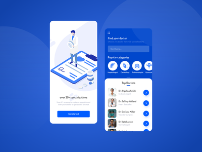 Find Your Doc® App android ios app profile page marketplace interaction mobile design mobile app mobile ui ui ux interface product design