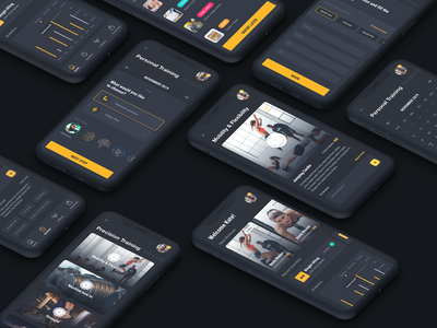 Fitness Performance App fitness app fitness interaction interaction design app android ui ux product design interface