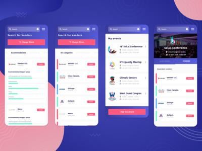 Event vendors app