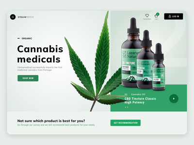 Strainmatch e-commerce cannabis design shop e-commerce web design desktop webdesign design interaction design interaction interface ui ux product design