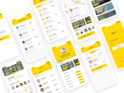 KlikFix® App (yellow mode) marketplace ios android mobile app app design interaction design interaction interface product design ui ux