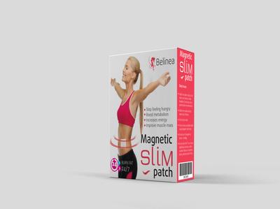 Magnetic slim patch box design