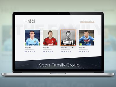 Sport Family Group webdesign minimal flat football soccer