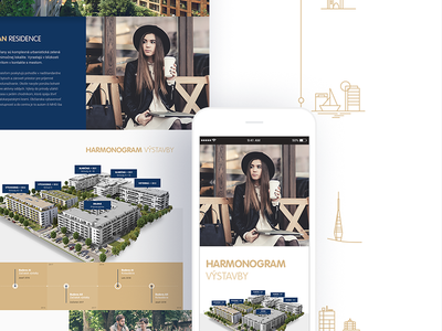 Urban Residence (Adbee Agency) blue gold mobile icons urban