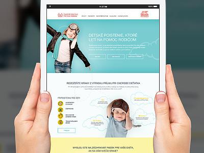 Generali Bambino microsite website design landing page ui website