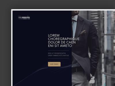 Web site luxury design web homepage