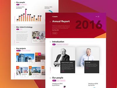 HB Reavis Annual Report ui ux report design web