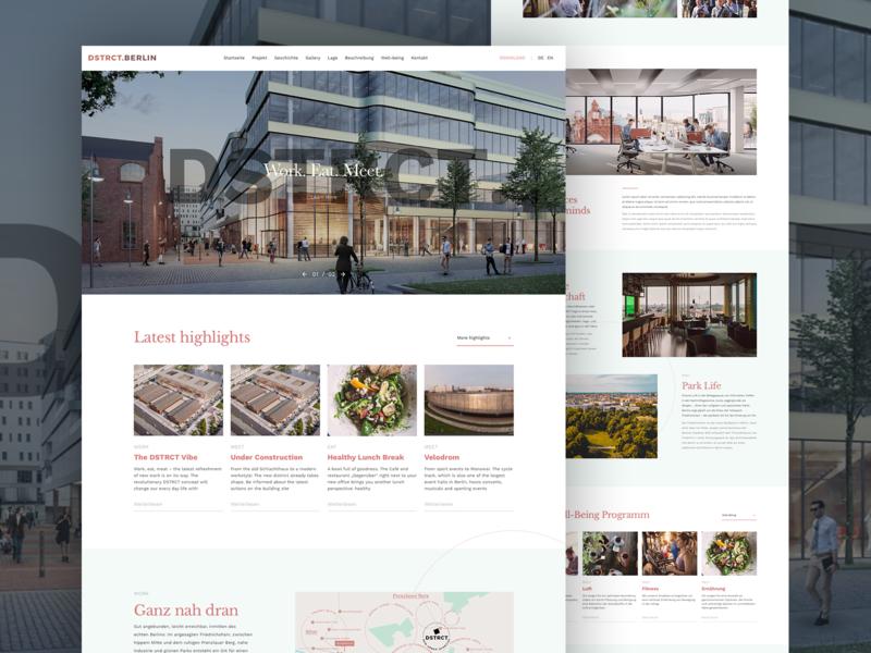 dstrct web website flat web ux ui webdesign