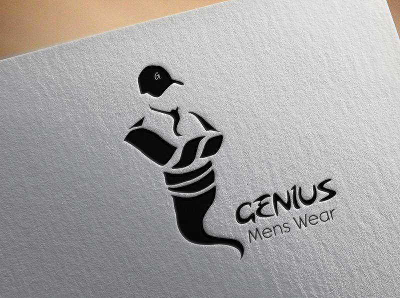Genius Caps logo design genius logotype logo