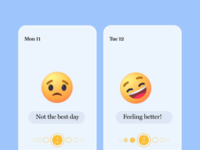 Emojis for Mood Tracker Apps app design happy sad design icon uiux ux ui emoji emoji set mindfulness health mood character animation svg motion animation