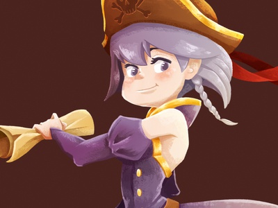 Penny The Pirate female pirate game art 2d art illustration character design pirate