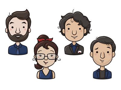 Two Infinity Team 2d art photoshop digital drawing illustration team avatars