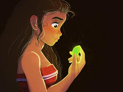 Moana lady girl drawing art maui princess disney princess illustration fanart disney moana