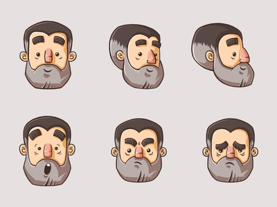 Ray The Chef 2d art game art faces expressions concept art character art chef