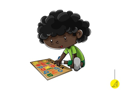 play with educational toy - 4 vector illustration flat
