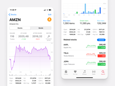 Figma iOS 13 library - Cryptocurrency & Trading app UI kit