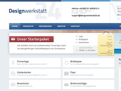 Designwerkstatt24.de - Home designwerkstatt24 designwerkstatt home webseite website webdesign clean startseite