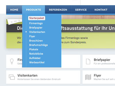 Designwerkstatt24.de - Navigation