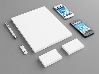 Stationary Mockup stationary mockup letter letterhead paper brief briefpapier briefbogen 3d iphone pen usb stick realistic real perspective clean presentation business card iphone 5