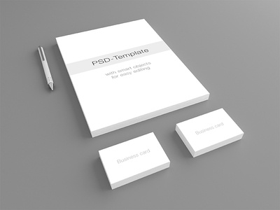 Stationary Mockup PSD-Template