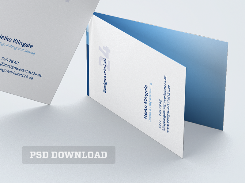 Business Card Mockup (PSD Download) by Heiko Klingele - Dribbble