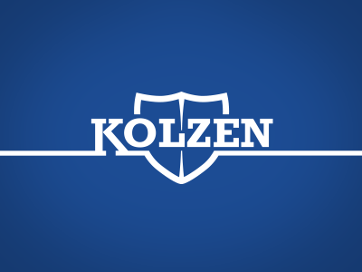 Logo Kolzen logo design brand identity security cloth kolzen safety clothing shield font
