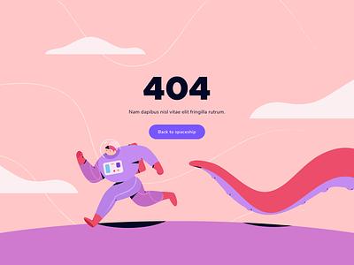 404 sky planet astronaut space web mistake error 404 simple flatdesign landingpage ui design flat character vector people illustration
